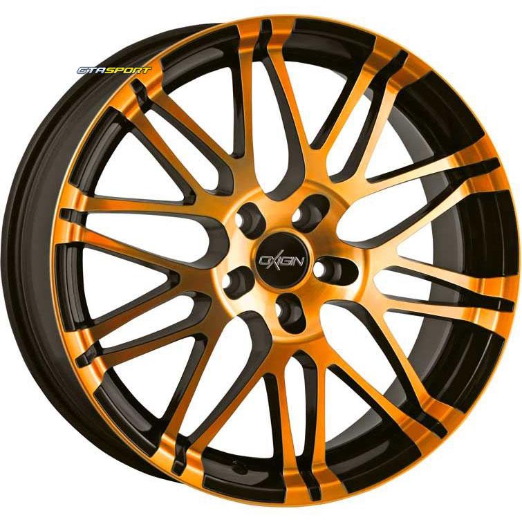 jante alu oxigin 14 orange 5x108 et45 gtasport jantes alu jantes acier pneus et roues. Black Bedroom Furniture Sets. Home Design Ideas