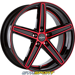 OXIGIN 18 Concave Noir brillant poli rouge