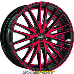 OXIGIN 19 Oxspoke Noir brillant poli rouge
